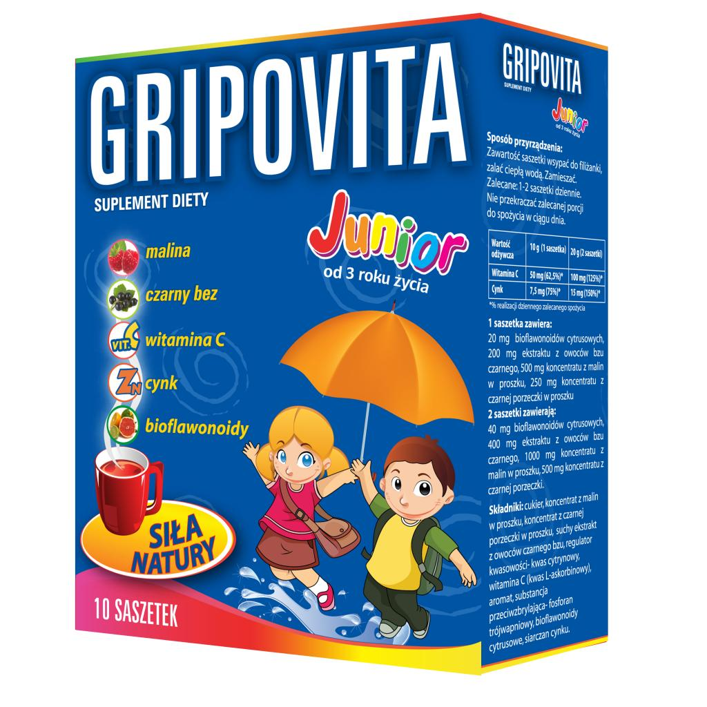 Gripovita Junior 10 saszetek - 1 - apteka internetowa HIT